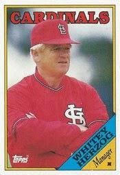 St Louis Cardinals, Manager, Whitey Herzog, Topps baseball card, baseball card