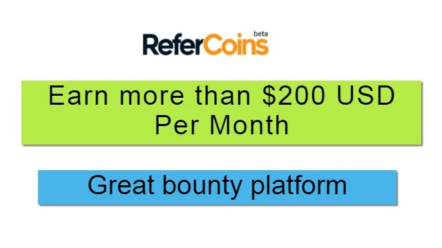 Refercoins bounty platform- How to earn from refercoins bounty platform