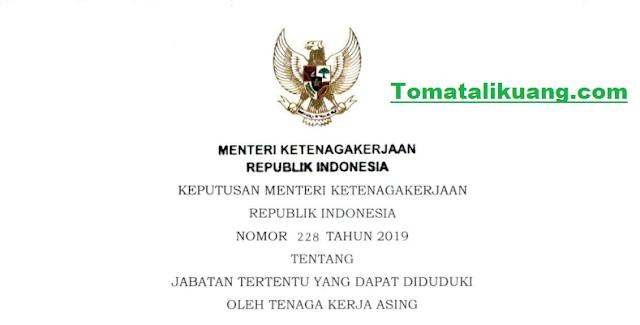dafat jabatan tenaga kerja asing, tomatalikuang.com