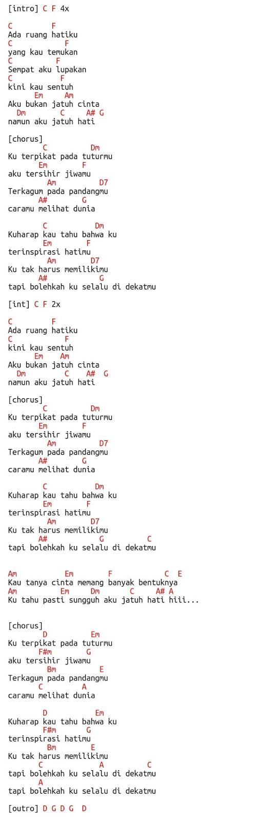 lirik lagu jatuh hati raisa
