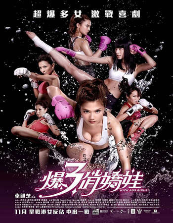 Poster Of Kick Ass Girls 2013 Dual Audio 120MB BRRip HEVC Mobile ESubs Free Download Watch Online Worldfree4u