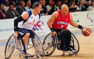 Wheelchair basketball.