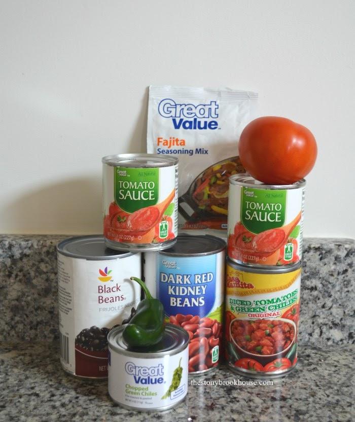 Crockpot Fajita Soup Ingredients