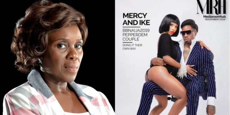 "Actress Joke Silva Attacks Mercy, Ike Over Unclad Photo ""The Lady Half Exposed, The Man Fully Clothed""."