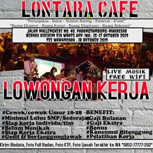 Lowongan Kerja Karyawan di Lontara Cafe & Lontara Production