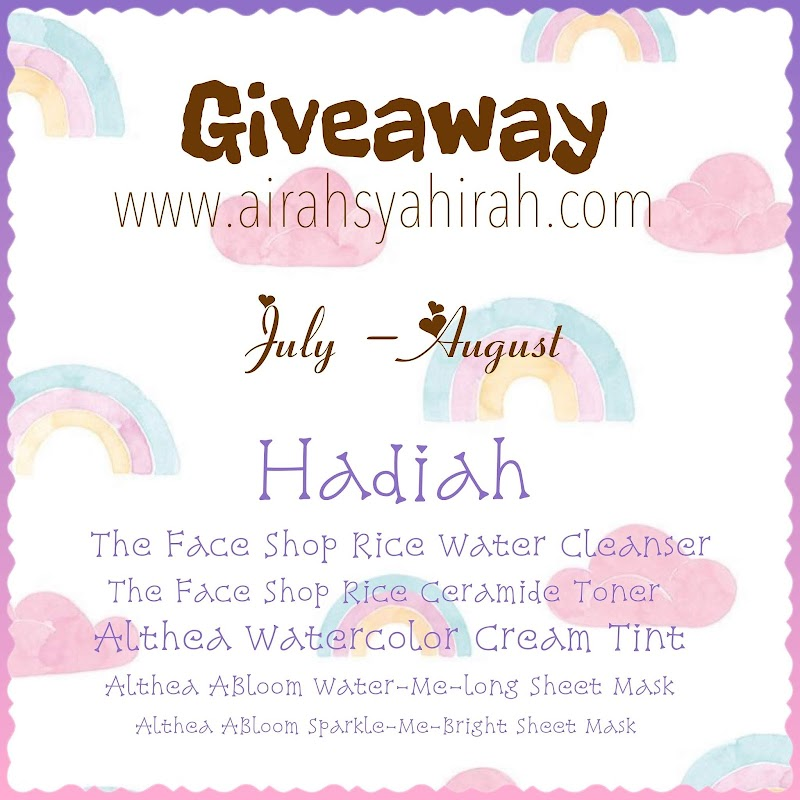 Skin Care Giveaway by Airah Syahirah