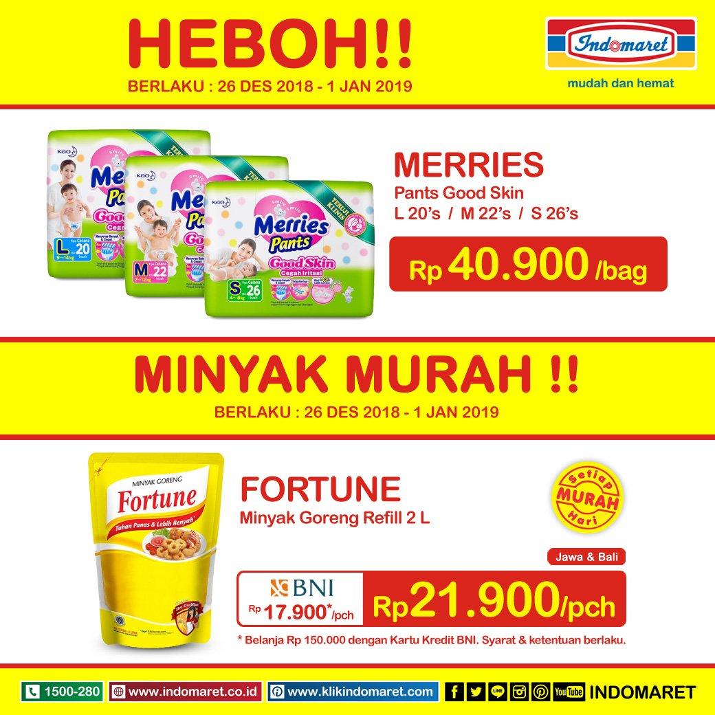 #Indomaret - Promo Harga Heboh Periode 26 - 01 Jan 2019