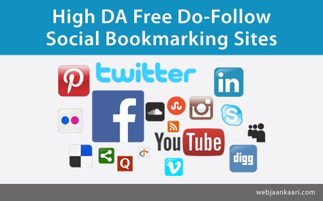 Top 20 Free High DA Social Bookmarking Websites