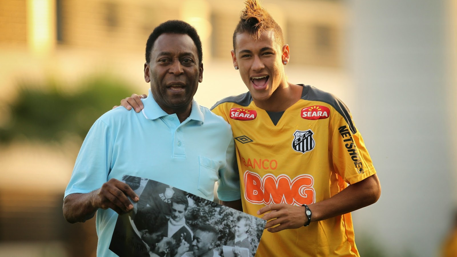 Image result for Pele with Neymar