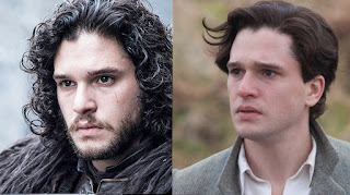 Game of Thrones actors with and without their beards,Jon Snow / Kit Harington