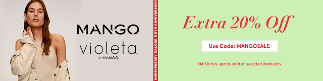 ZALORA 8TH BIRTHDAY ANNIVERSARY - MANGO (FEMALE) EXTRA 20% OFF