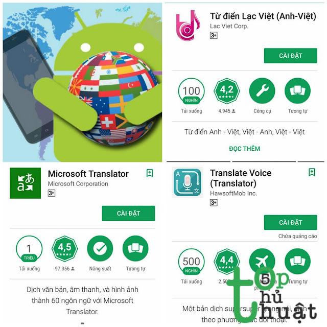 Top 5 ứng dụng dịch thuật cực hay cho điện thoại Android (Phần 1)