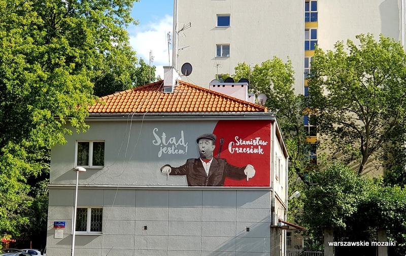 Warszawa Warsaw warszawskie murale streetart street Sielce Mokotów Grzesiuk