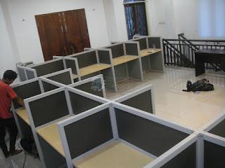 Meja Partisi Kantor Lurus Panjang per meja 100 cm (Meja Sekat Kantor)
