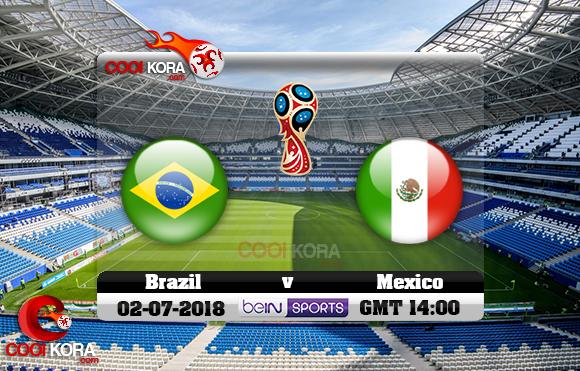 مشاهدة مباراة البرازيل والمكسيك اليوم 2-7-2018 بي أن ماكس كأس العالم 2018