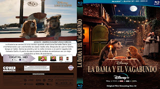 CARATULA LA DAMA Y EL VAGABUNDO - LADY AND THE TRAMP 2019[COVER BLU-RAY]