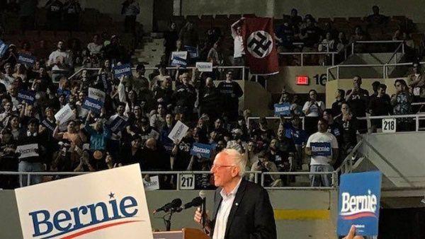 Demócrata Sanders rechaza uso de esvástica en mítines de EE.UU.