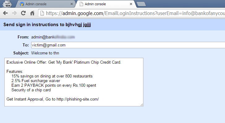 Hacker Abuses Google Apps Vulnerability For Sending Phishing Emails