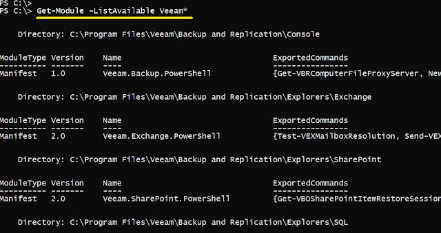Veeam Backup: Módulo PowerShell