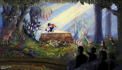 Snow White's Scary Adventures Happily Ever After 2020 Changes Concept Art Disneyland