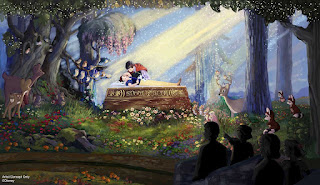 Snow White's Scary Adventures True Loves Kiss Concept Art Disneyland 2020