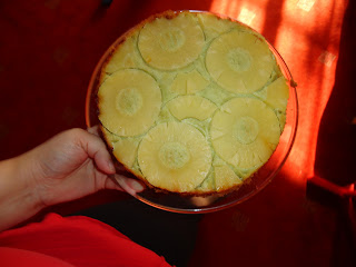 A Green Pineapple Upside Down Cake