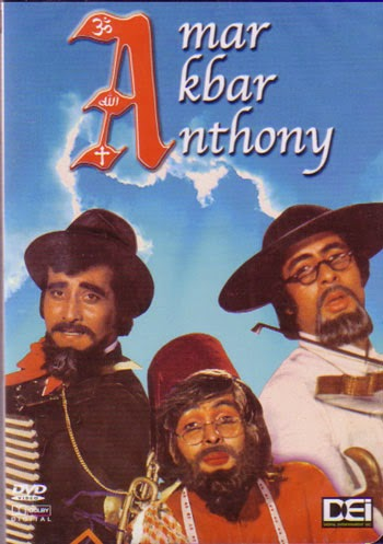 Poster Of Bollywood Movie Amar Akbar Anthony (1977) 300MB Compressed Small Size Pc Movie Free Download worldfree4u.com