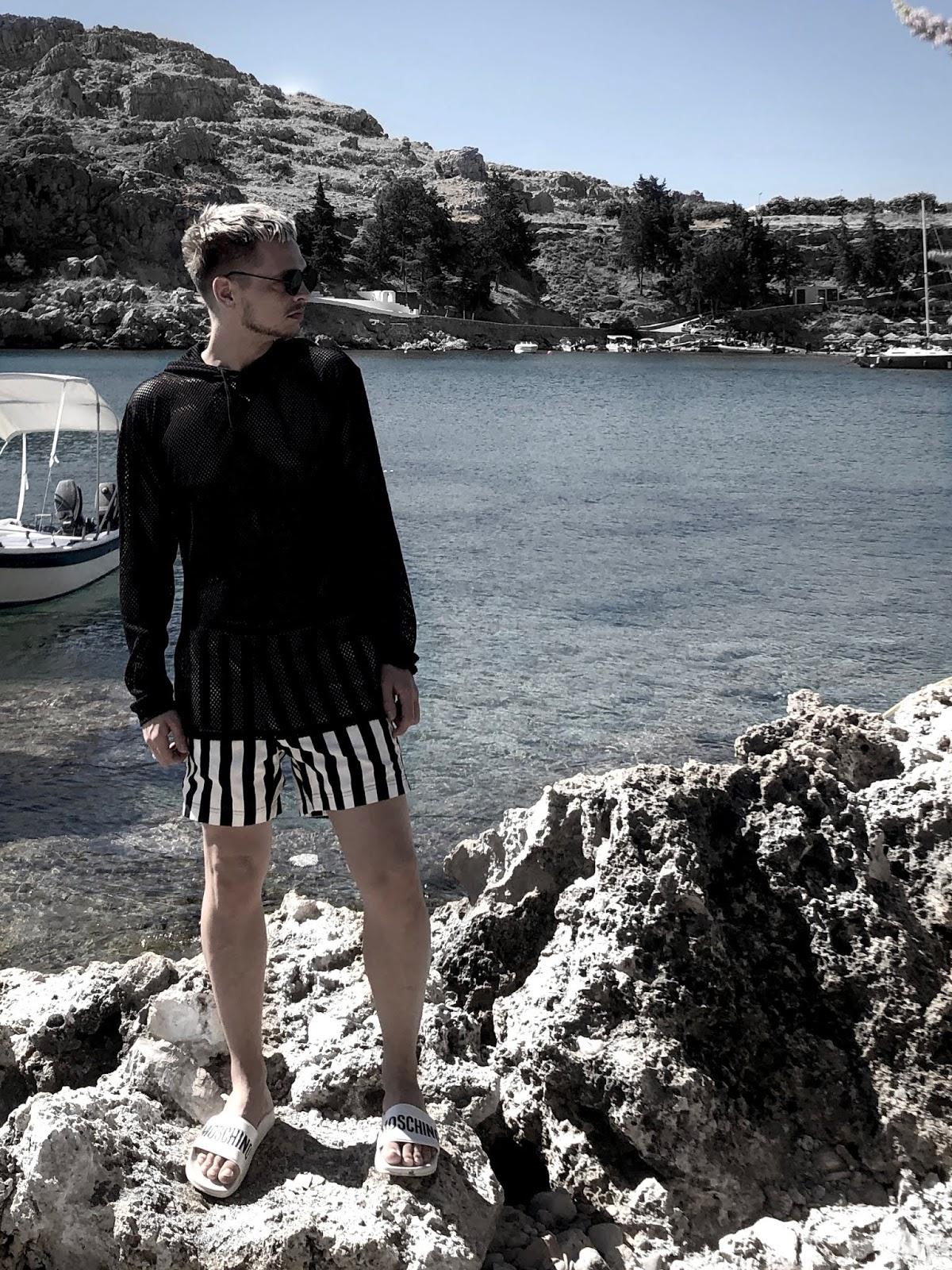 Greece beach style mesh hoody weekday