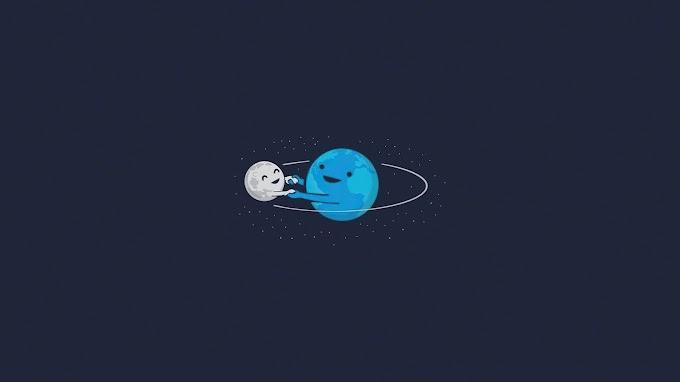 Papel de Parede Terra e Lua