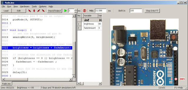 Virtronics simulator for arduino
