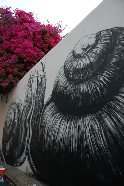 Snails by ROA In Portugal, Lagos