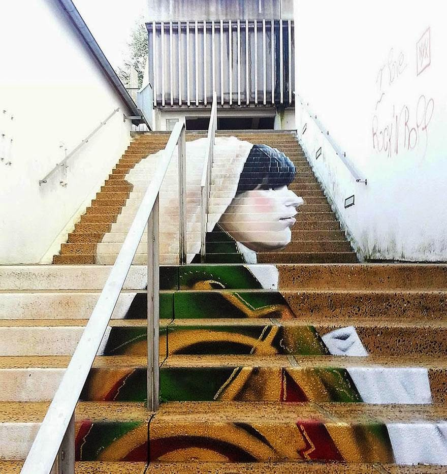15. Morlaix, France - 17 Beautifully Painted Stairs From All Over The World. #7 Is Insane!