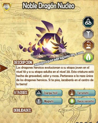 imagen de las caracteristicas del noble dragon nucleo