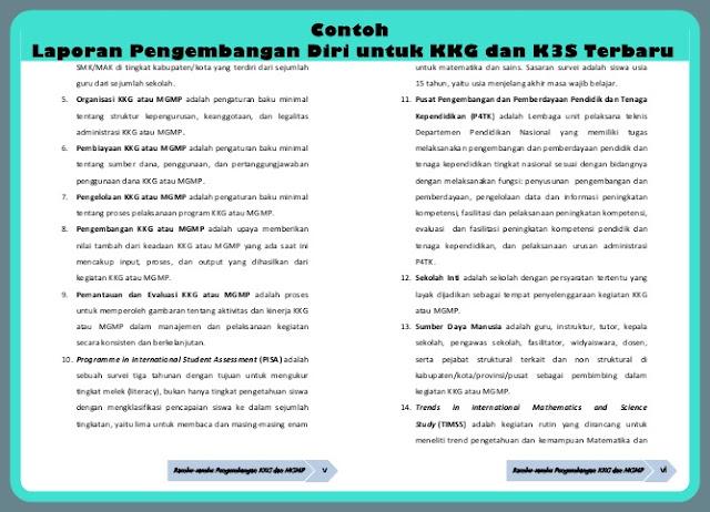 Download Contoh Laporan Pengembangan Diri untuk KKG dan K3S Versi Terbaru