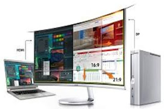 Monitor Komputer SAMSUNG 34 Inch Curved LED LC34H890WJE