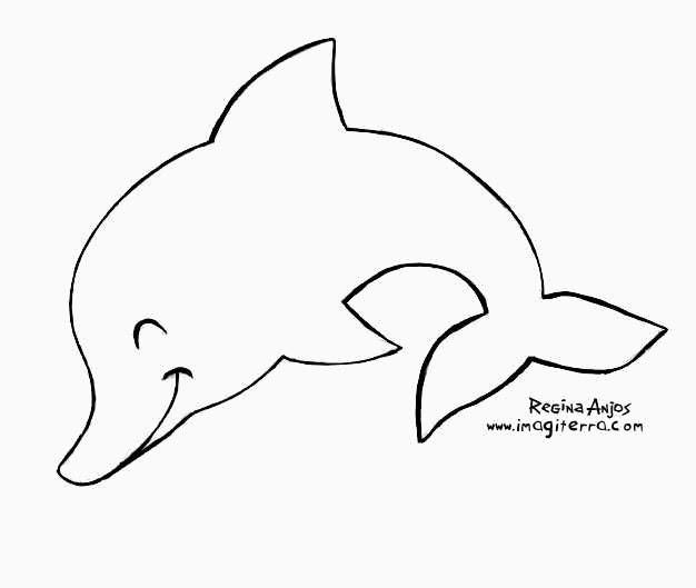 Desenho De Golfinho Para Imprimir