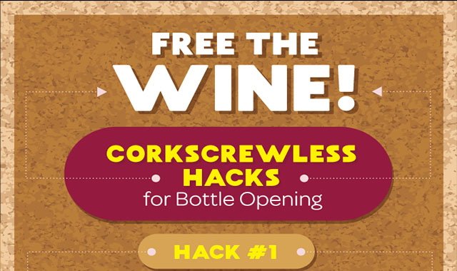 Corkscrew-less Hacks for Freeing Wine from the Bottle