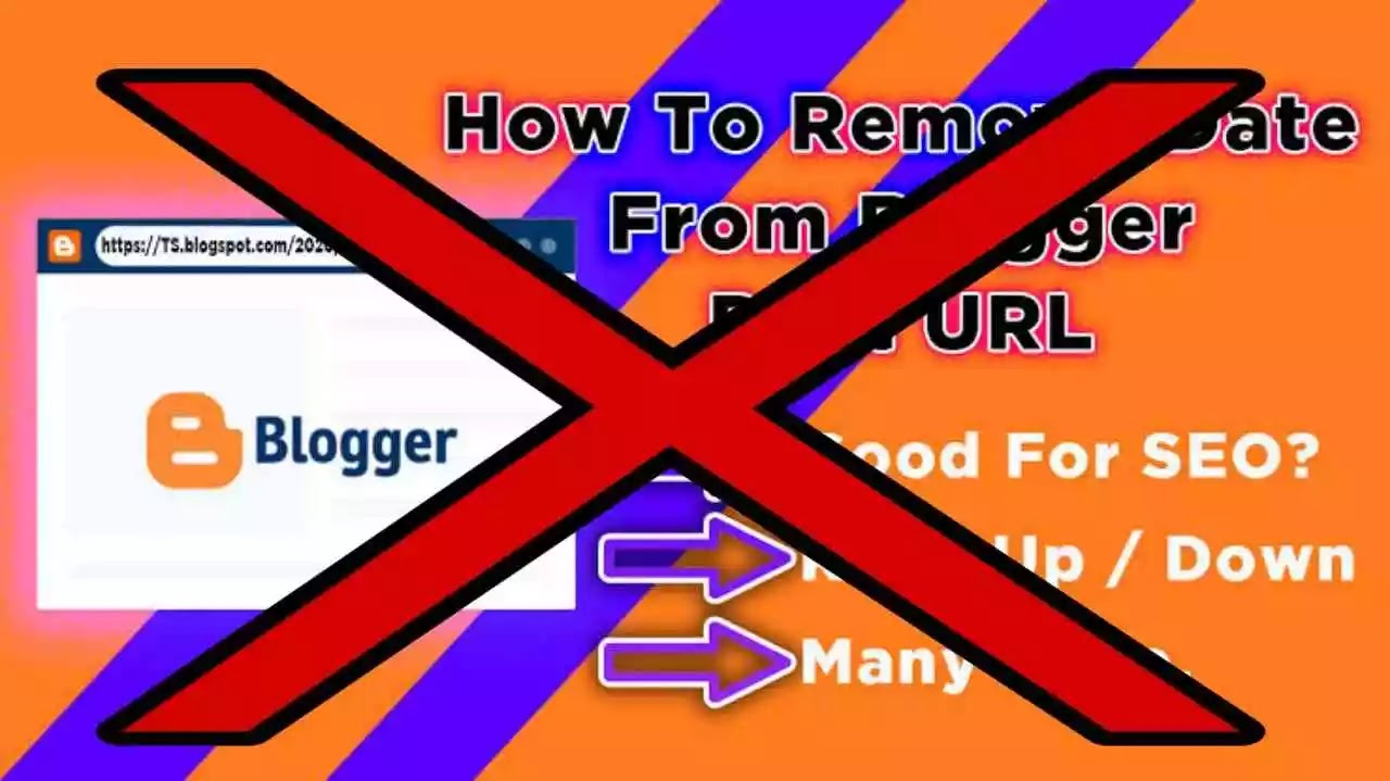 How to remove date in blogger