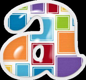 Alfabeto con Mosaicos de Colores.