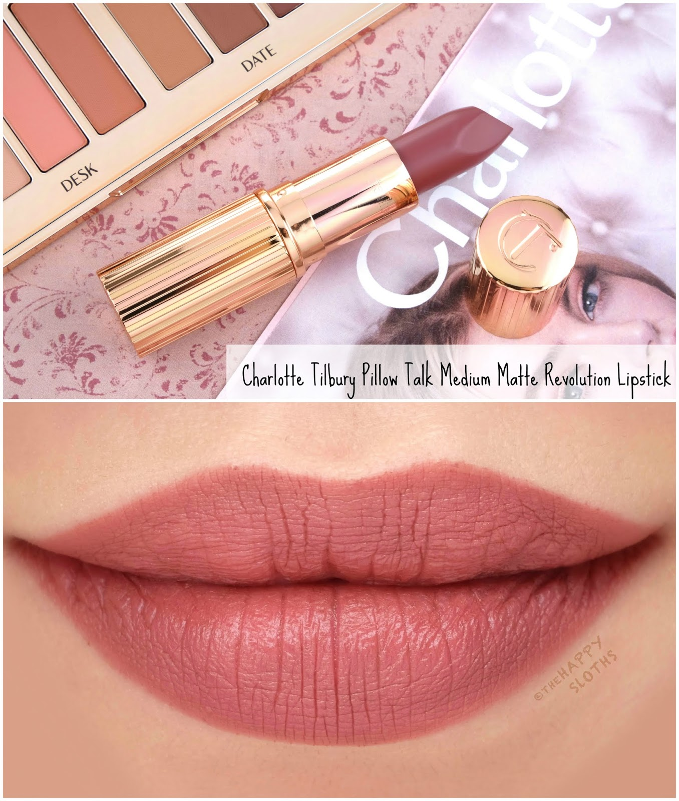 Charlotte Tilbury | Pillow Talk Medium Lipstick: Review and Swatches