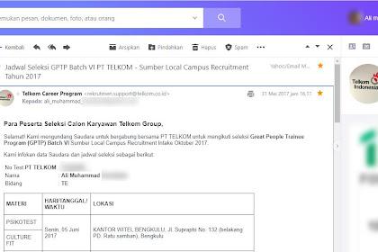 Rekrutmen Telkom: A Road To Great People Trainee Program Batch VI PT Telkom Indonesia (Persero) Tbk Part 4