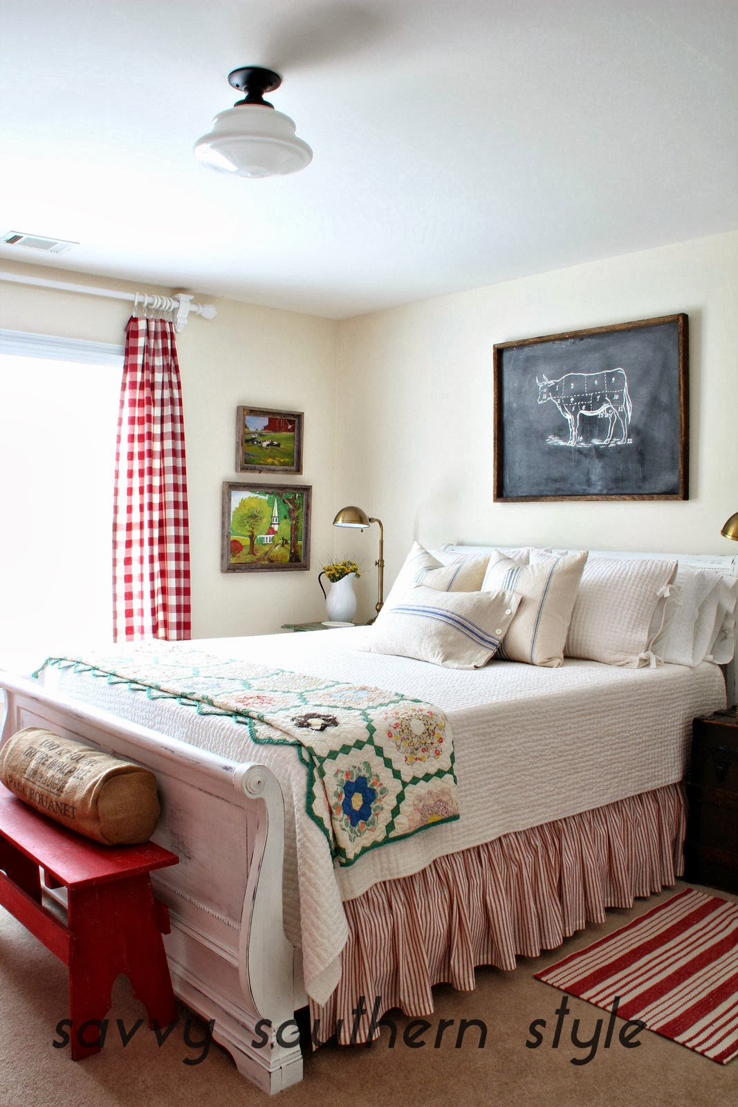 Southern Farmhouse Bedroom Ideas: Savvy Southern Style : A New Cow.....again