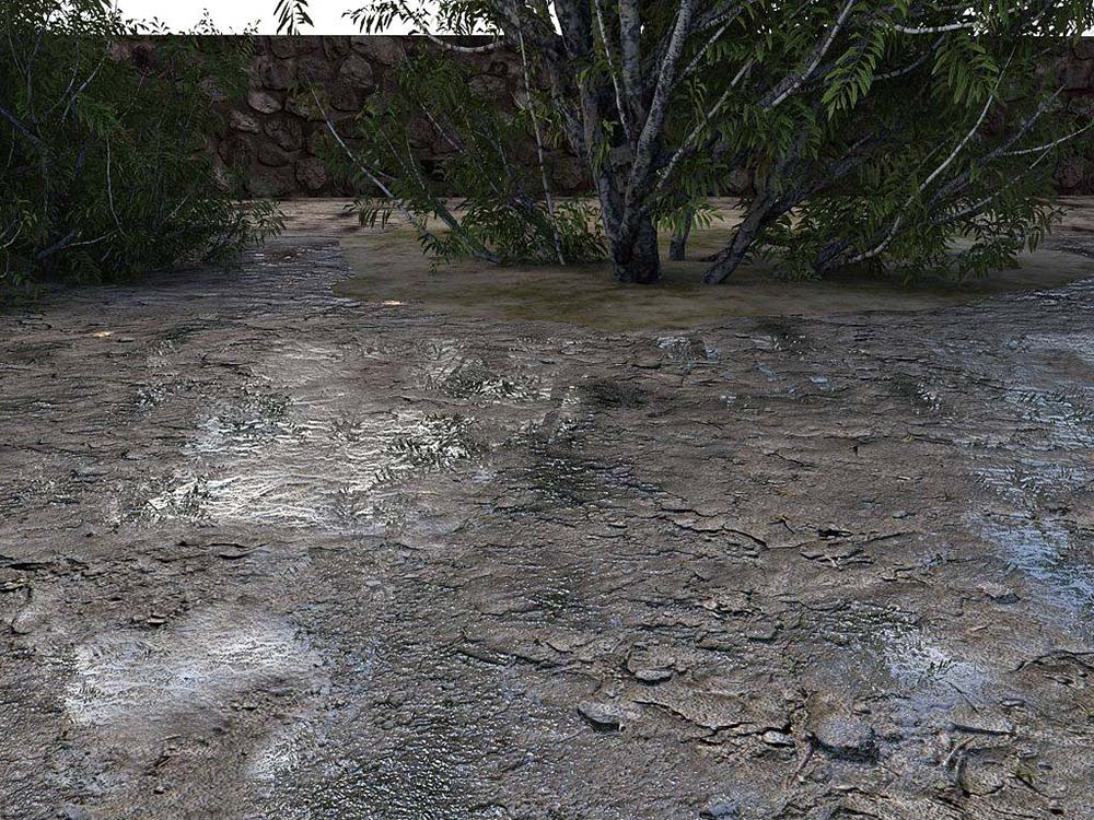 8 - how to create mud puddles using vray 2.0 for sketchup