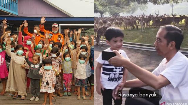 Aktivis Kemanusiaan: Asap Belum Reda, Anak-anak Masih Bermasker, Presiden Malah Asyik Ngevlog