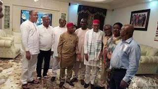 Nnamdi Kanu Meets Senator Ike Ekweremadu, Senator Abaribe And Other South East Senators 1