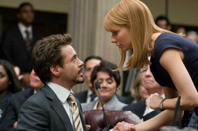 Robert Downey Jr. als Tony Stark, Gwyneth Paltrow als Pepper Potts