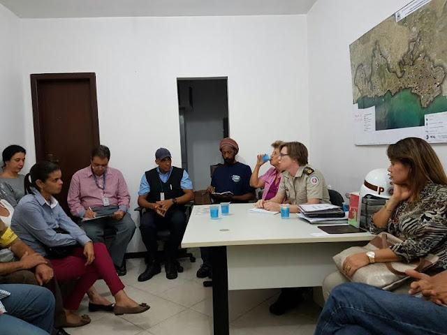 Comandante Milanese em reunião com entidades do bairro