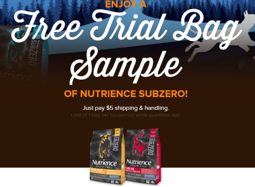 Nutrience Free Trial SubZero Pet Food