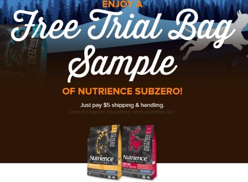 Nutrience Free Trial SubZero Pet Food