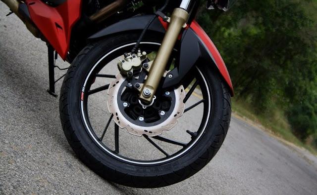 TVS Apache RTR 200 4V front wheel